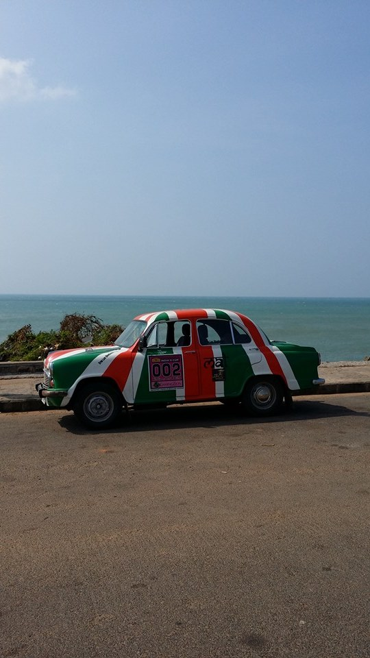 Hindipendent Racing at India's most southern point - photo by Mal Gudgeon.