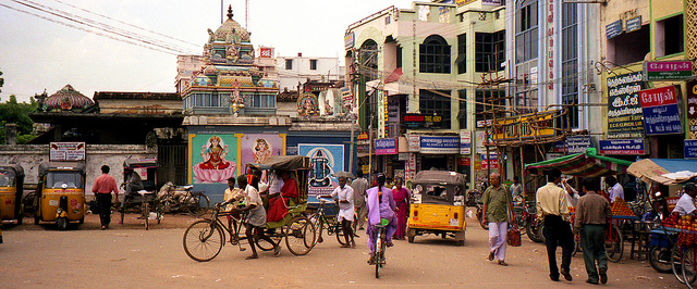 The Streets of Thanjavur. Photo by Ryan