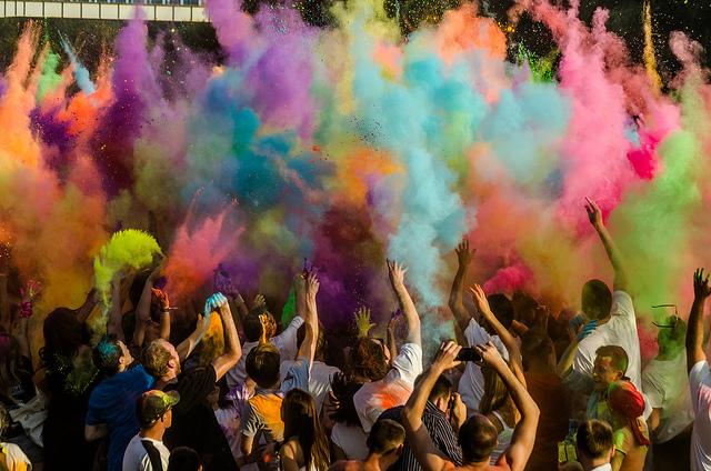 Color Balloons Exploding. Photo Credit: Maciek Lulko