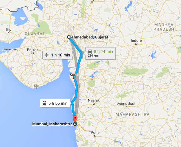 The Route. Photo Credit: Google Maps